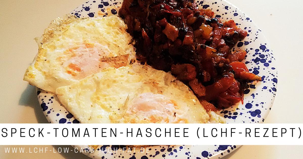 Speck-Tomaten-Haschee (LCHF-Rezept)